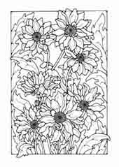 flowers to colour in - Picture To Colour In