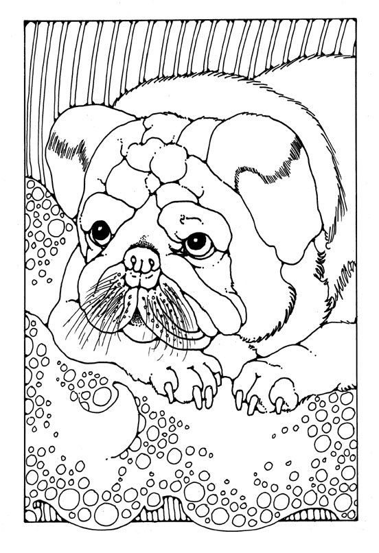Free Coloring Pages Of Zentangle Dogs